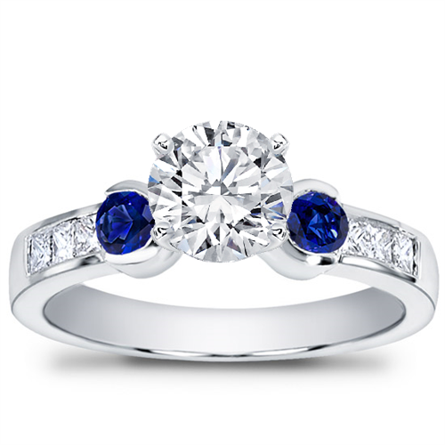 Sapphire Channel-Set Engagement Setting