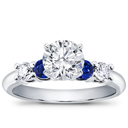 Diamond and Sapphire Engagement Setting