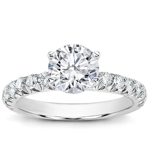589d0d92fa4d8 Large French Cut Diamond Engagement Setting