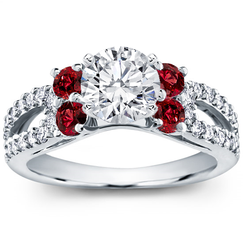 Ruby and Pave Engagement Setting