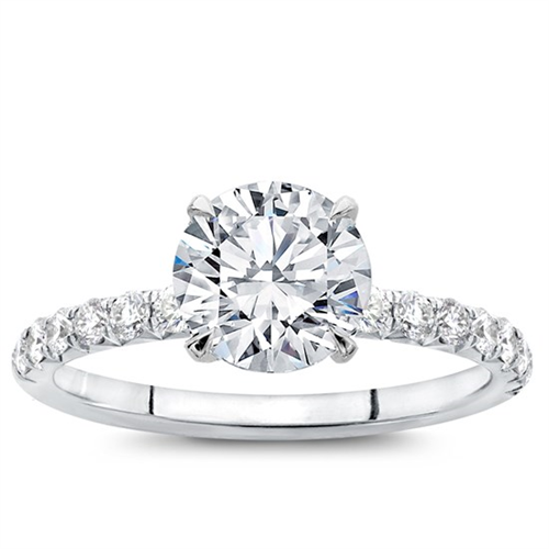 Superb Round Cut 2.05 Carat Solitaire Engagement Ring In Real 14KT White Gold