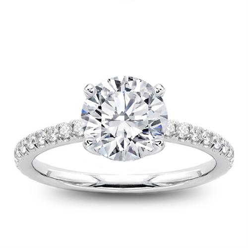 Dainty Diamond Engagement  Ring Setting