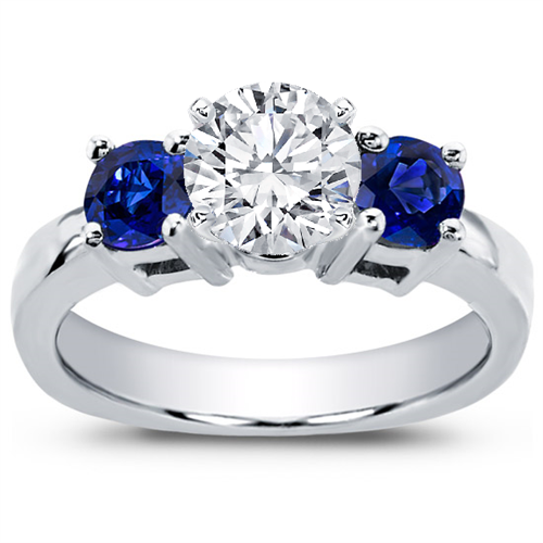Sapphire Accented Engagement Setting
