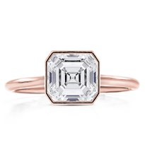 Bezel Set Solitaire Engagement Ring Setting | R3055
