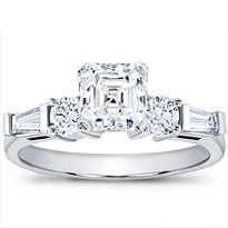 Tapered Baguette And Round Diamond Setting | R2618