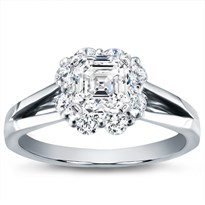 Petal Halo Diamond Engagement Setting (0.55 Cttw) | R2892