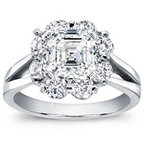 Petal Halo Diamond Engagement Setting (1.10 Cttw) | R2895