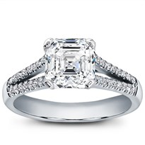 French Cut Split Shank Setting For Square Diamond | R2930