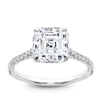 French Cut Basket Setting Diamonds 3/4 Down | R2972