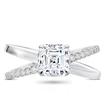 Criss Cross Diamond Engagement  Setting | R3094