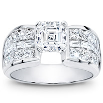 Invisible-Set Baguette And Princess-Cut Setting | R2064
