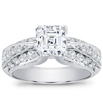 Diamond Pave Engagement Setting (0.62 Cttw) | R2545