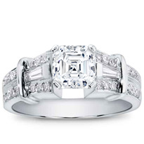 1/2 Ct. Tw. Baguette And Pave Engagement Setting | R2442