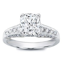 Pave Engagement Setting For Round Diamond (0.58 Cttw) | R2847