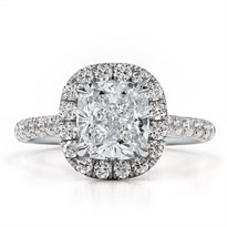 Cushion Cut Halo Engagement Setting 2mm | R3120