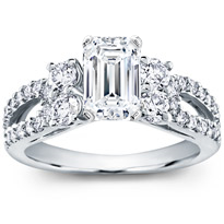 Round And Pave-Set Engagement Setting (0.95 Cttw) | R2911
