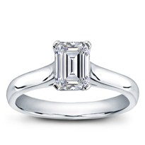 Basket Solitaire For Emerald Cut Diamond | R2926