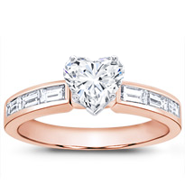 Baguette Diamond Engagement Setting (0.50 Cttw) | R2769
