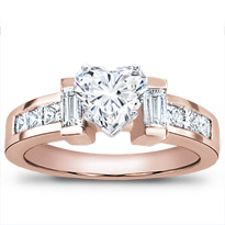 Baguette And Princess Cut Engagement Setting | R1967