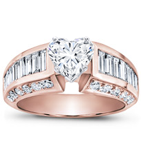 Baguette And Pave Engagement Setting (2.24 Cttw) | R2186