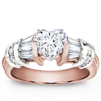 Baguette And Round Diamond Engagement Setting | R2580