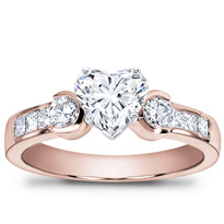 1/2 Ct. Tw. Princess-Cut And Round Diamond Setting | R2483