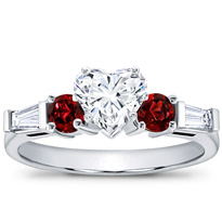 Ruby And Round Diamond Setting | R2618R
