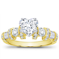 Baguette, Round, And Pave Setting | R2782