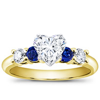 Diamond And Sapphire Engagement Setting | R2775S