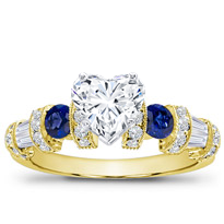 Sapphire, Baguette, And Pave Setting | R2782S