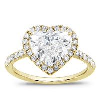French Cut Pave Heart Halo Engagement Setting | R3067