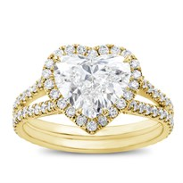 Heart Halo Engagement Ring Setting | R3068