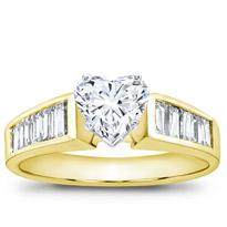 Baguette Diamond Engagement Setting (0.86 Cttw) | R1845