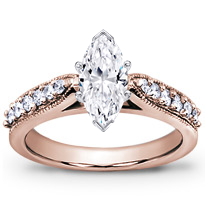 Pave Engagement Setting With Milgrain | R2750