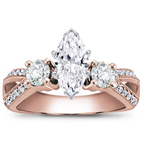 Round And Pave-Set Engagement Setting (0.82 Cttw) | R2771