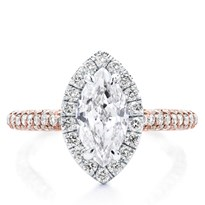 Custom 3 Row Pave Engagement Setting | R3080