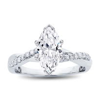 Diamond Twist Engagement Ring Setting | R3050