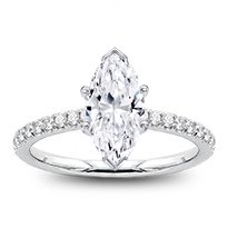 Dainty Diamond Engagement  Ring Setting | R3146