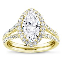 Split Shank Halo Setting For Marquise Cut Diamond | R3049
