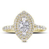 Marquise Double Halo Engagement Ring Setting | R3112