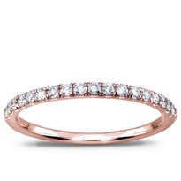 French Cut Diamond Band 1.7mm 1/2 Way, $890