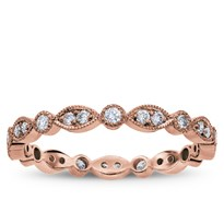 Vintage Leaf Diamond Eternity Band, $1,295