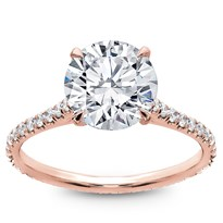 Diamond Eternity French Pave Engagement Setting