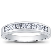 Princess Cut Channel Set 3/4 cttw Diamond Band | Adiamor