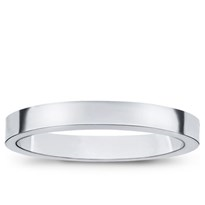 3mm Flat Edge Comfort-Fit Wedding Band, $250