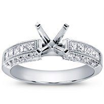 Pave and Princess-Cut Diamond Setting, $1,490