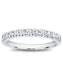Pave Set 0.30 cttw Diamond Wedding Band  | Adiamor