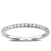 French Cut Diamond Band 1.7mm 1/2 Way, $750