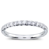 French Cut Pave Wedding Band