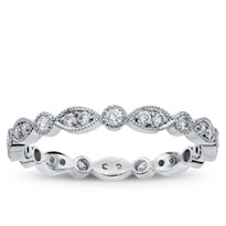 Vintage Leaf Diamond Eternity Band, $1,150
